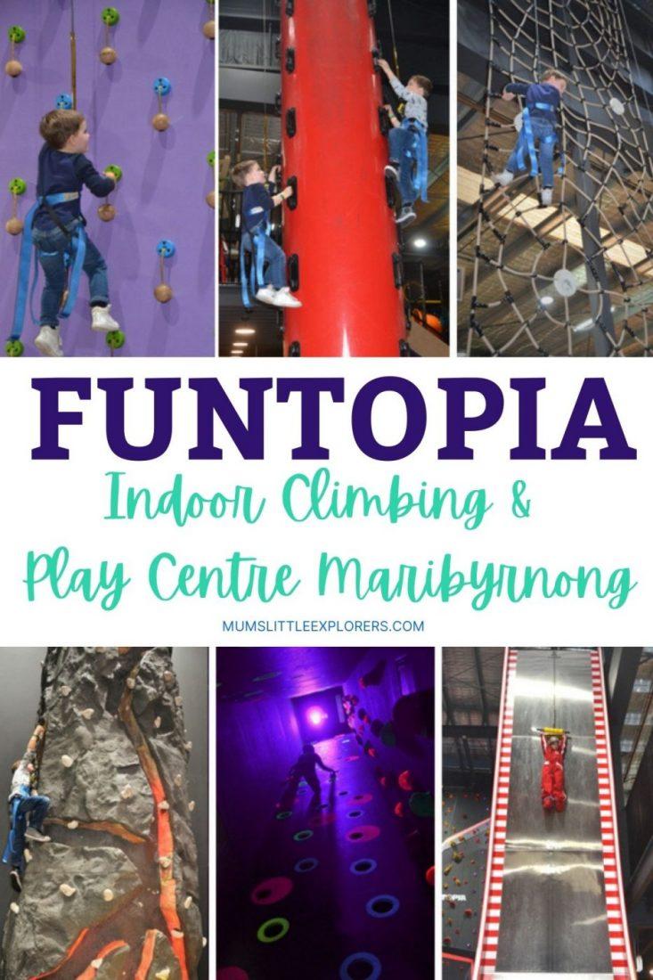 Funtopia Indoor Climbing for Kids in Melbourne