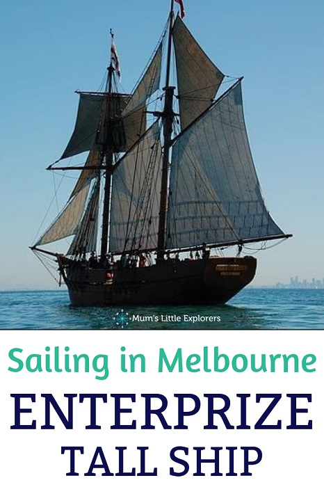 Sailing in Melbourne Tall Ship Enterprize
