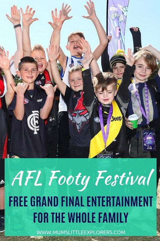 AFL Footy Festival, Family Entertainment for Grand Final