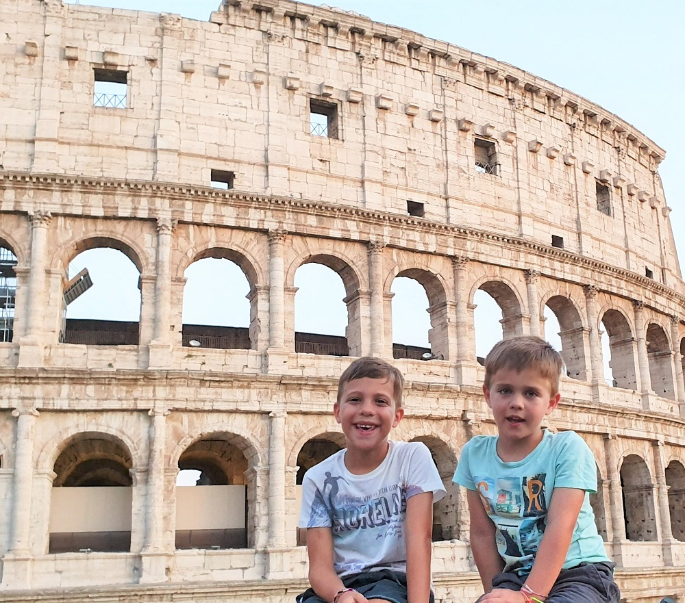 Colosseum things to do in Rome with kids