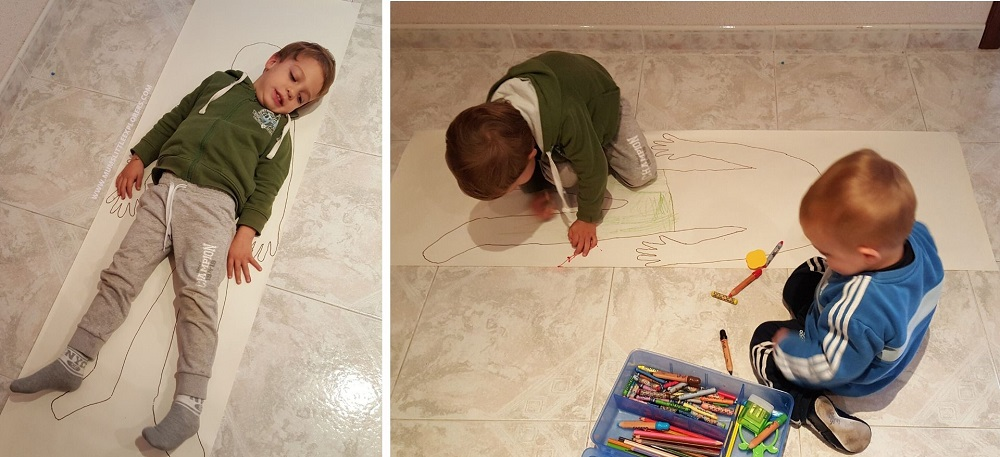 Indoor activities for kids - Body Drawing