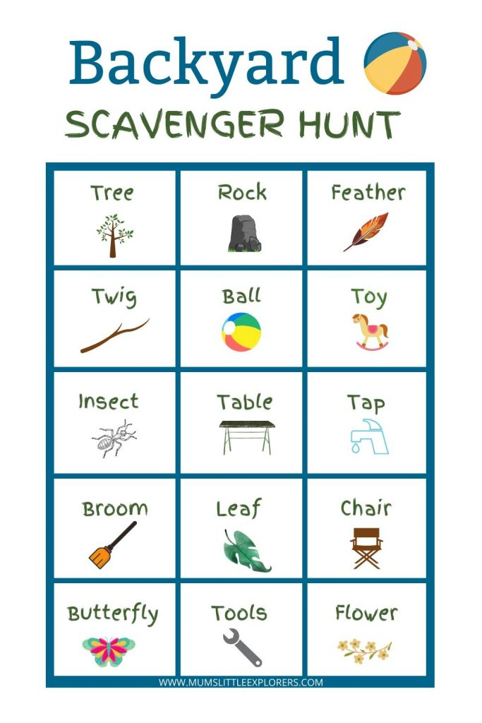 Backyard Scavenger Hunt List Ideas