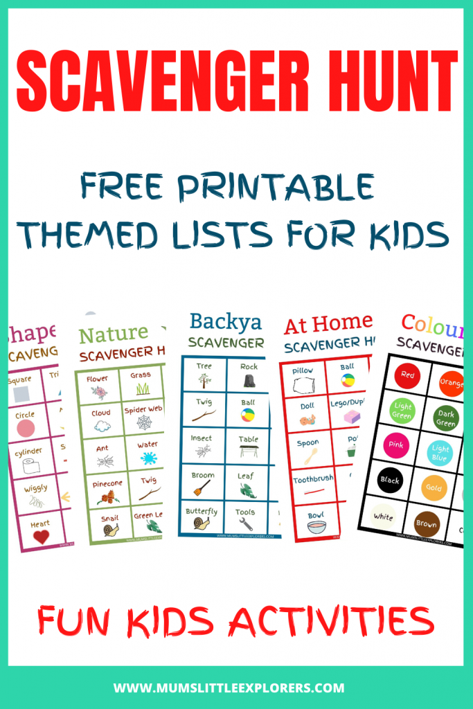 Scavenger Hunt Ideas Lists for Kids