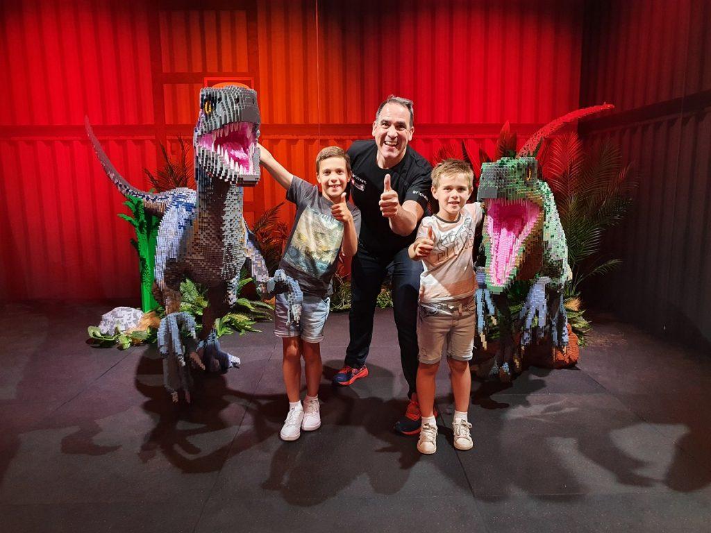 Jurassic World LEGO exhibition with Brickman