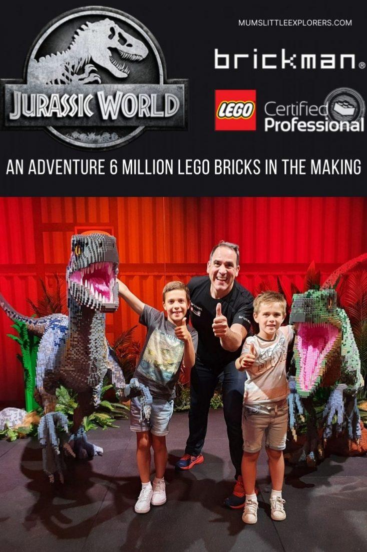 Jurassic World Brickman Exhibition Melbourne