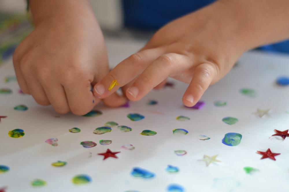 Finger paint sensory activity