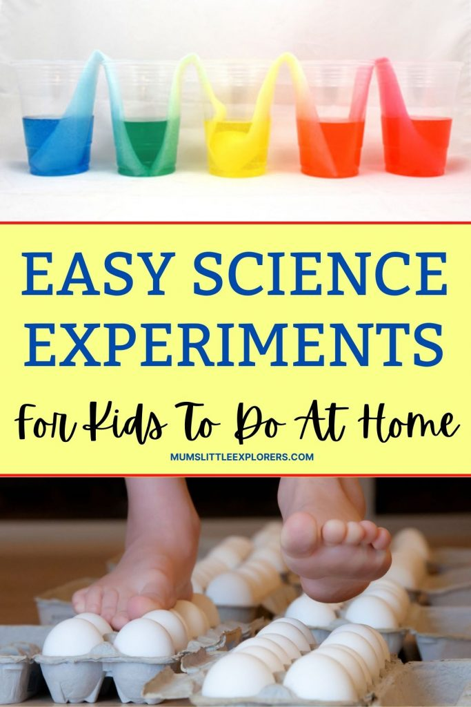 Easy Simple Science Experiments for Kids to do at Home