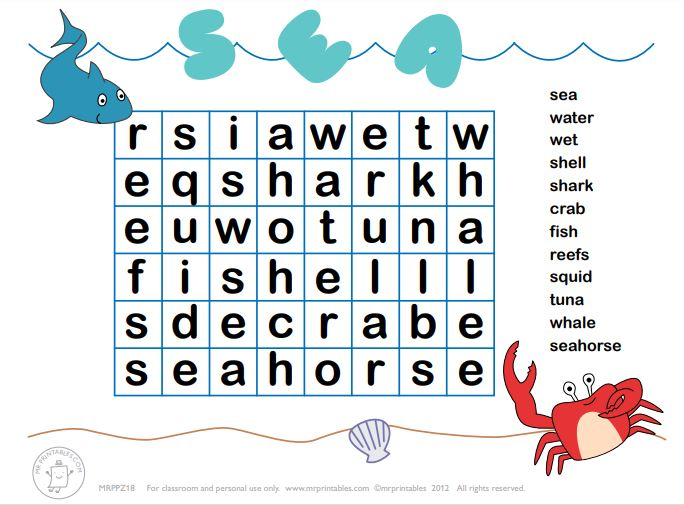word search vocabulary game for kids