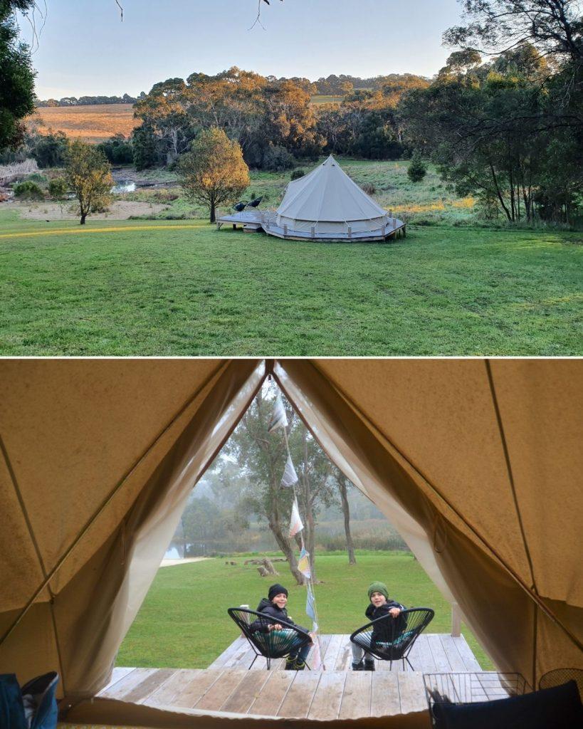 Iluka Glamping tent Mornington Peninsula