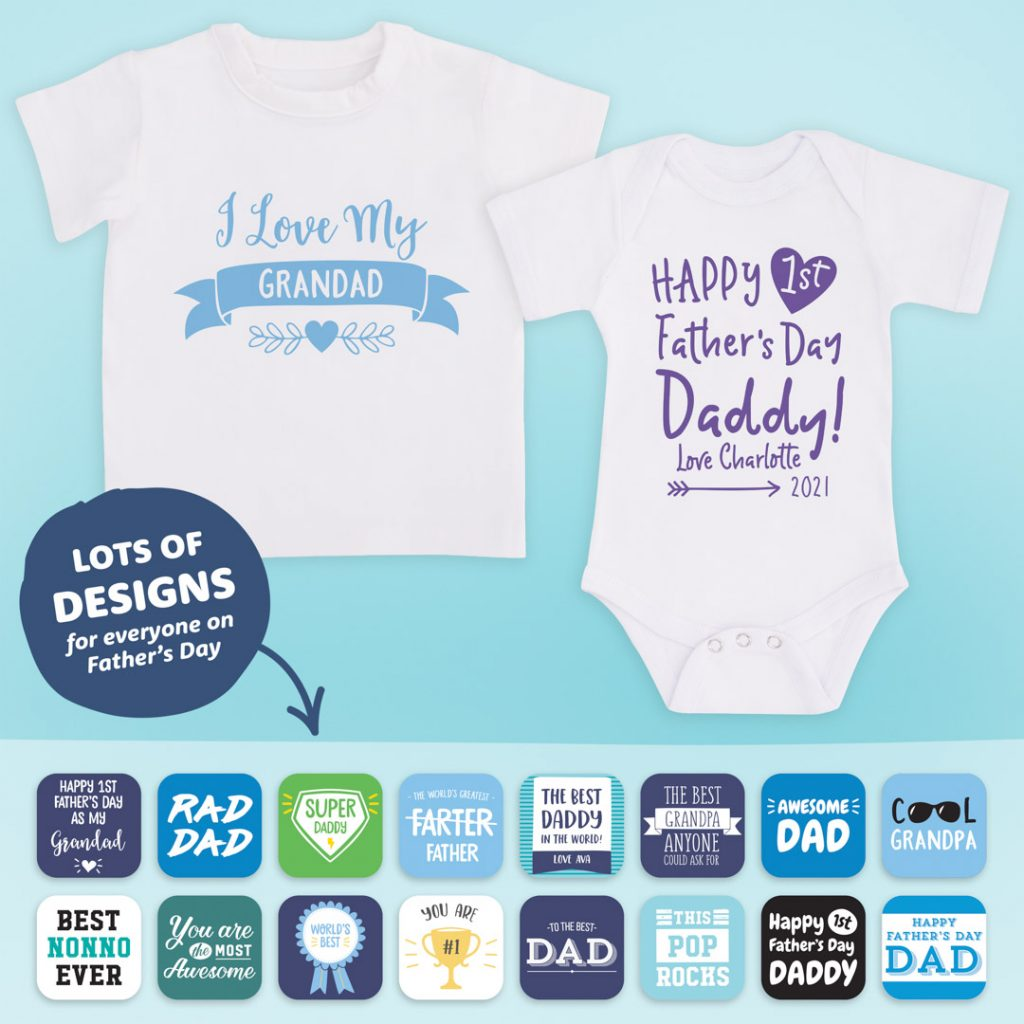 Fathers Day Gifts Personalised Baby Clothes