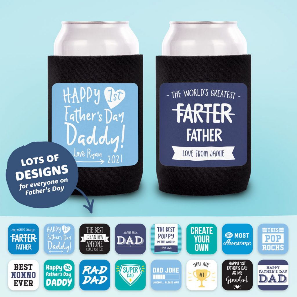 Fathers Day Gifts Personalised Stubby Holder