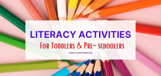 Early Literacy Activities for Toddlers, Preschoolers Kids