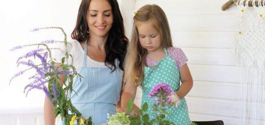 Flower arranging Montessori Practical Life Activity