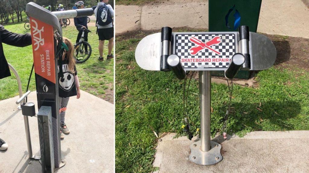 Bike and skateboard station Hill n Dale Park